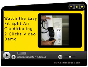 Watch the DIY Split Air Conditioning 2 Clicks video demo