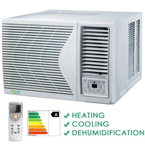 Compact Heating And Cooling Units : Btu window heat pump air conditioning unit